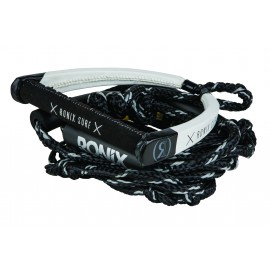 PU Bungee Surf Rope 25ft mit Handle Black / White