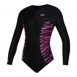 Diva LS Swimsuit - Black/Pink - 36