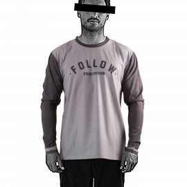 FOLLOW MENS HYDRO L/S TEE - Grey